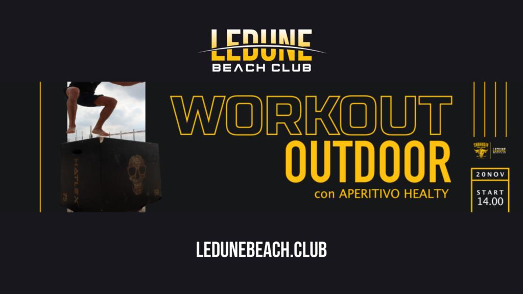 Workshop con Allenamento Outdoor con Stefano Carosso Le Dune Beach Club